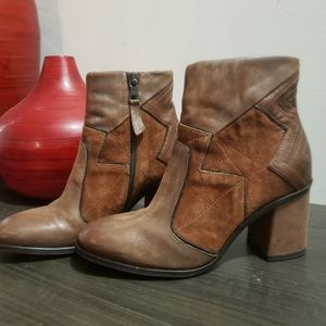MJus leather booties, country, destressed …